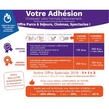 Adhésion annuelle Professionnelle - Club Premium Promo-Spectacles